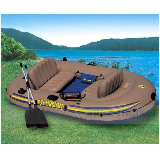 Canotto intex excursion 3 set 260 x 157 cm for Blow up boat for fishing