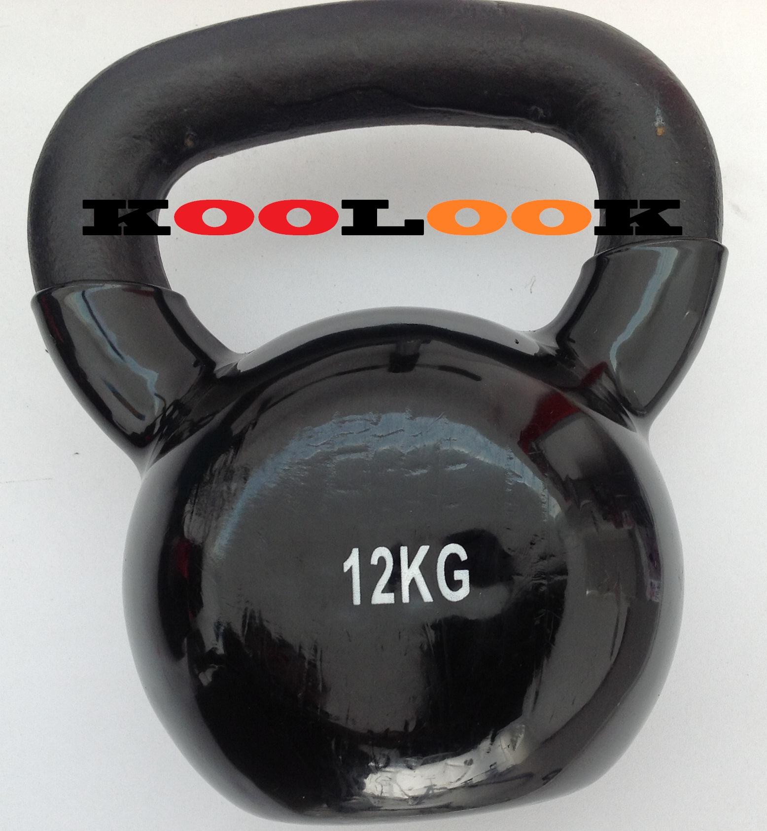 Kettlebell 52 Kg: PESO DA FITNESS KETTLEBELL KOOLOOK 12 KG RIVESTITO IN