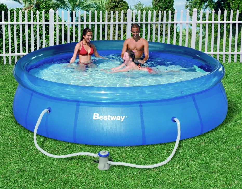 Piscina bestway fast set pool 366 x 76 - Montaggio piscina bestway ...