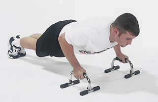 SPRINGOS Maniglie per flessioni push-up-Bars 24 cm set da 2 pezzi